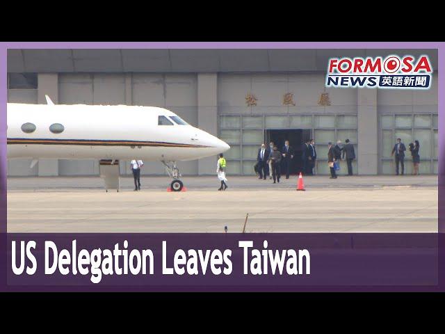 Delegation sent by Biden leaves Taiwan after brief visit