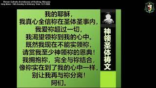 15th Sunday in Ordinary Time - Mass (Mandarin) 2020