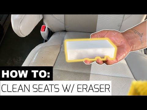 How to Clean Your Leather Seats with An Eraser! –SUPER EASY! | #MagicEraser #SeatCleaning