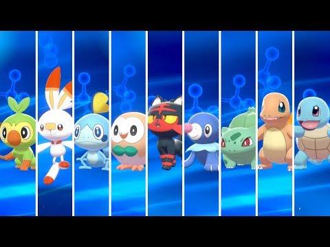 Pokémon Sword & Shield - All Starters Evolutions