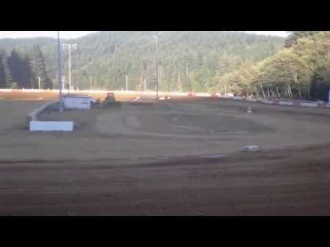 9-13-2014 late model heat race coos bay speedway