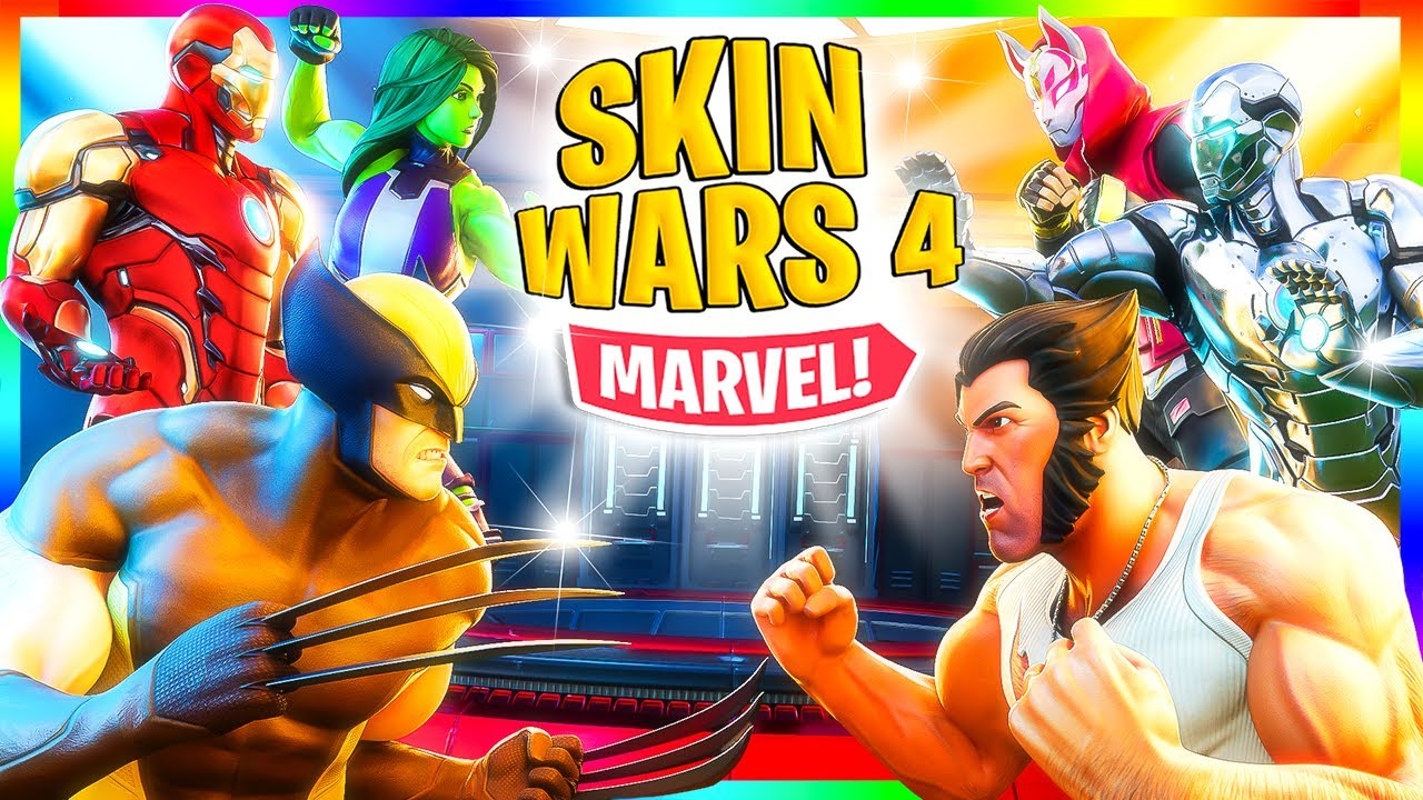 Skin Wars 4: Top SUPERHÉROES de MARVEL! (Fortnite)