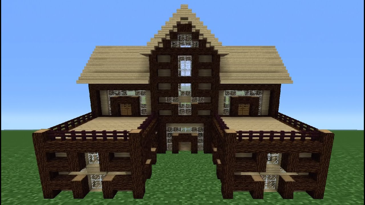 Minecraft Tutorial: How To Make A Wooden House - 3 - YouTube