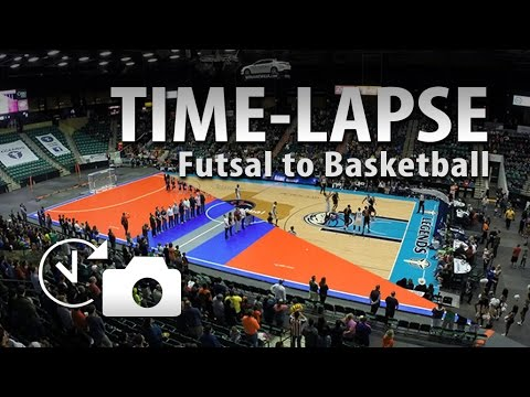 pfl futsal to nba d league basketball quick changeover time lapse at dr pepper arena frisco. Black Bedroom Furniture Sets. Home Design Ideas