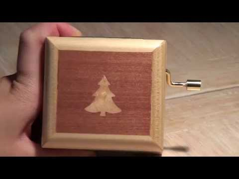 Wooden music box - WE WISH YOU A MERRY CHRISTMAS