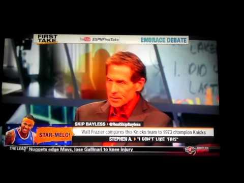 ESPN First Take   Walt Frazier compares current Knicks to the 1973 Knicks - ESPN Sport First Take