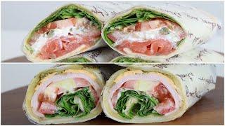 바질페스토를 넣어 더 맛있는 또띠아 샌드위치 두 가지 …