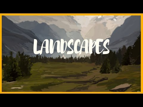Landscape Digital Painting – Speedart
