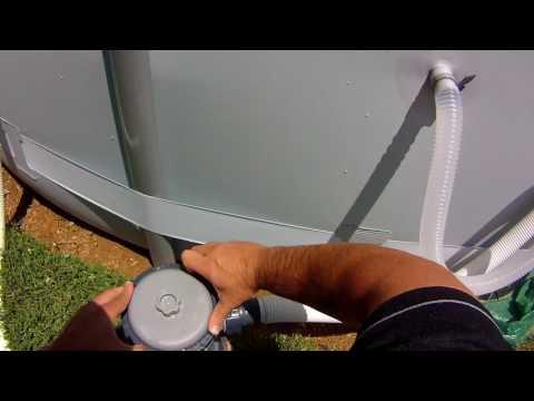 18x48 round Colman pool filter maintenance