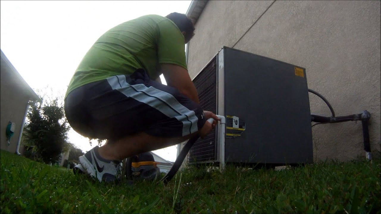 Diy Fixing Clogged Air Conditioner Drain Line Air