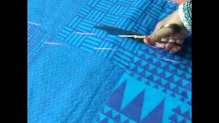 Simple gown marking & cutting