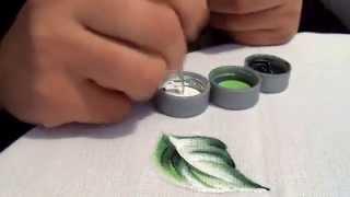 Fazendo folha com gota de orvalho com Leticia Narcizo
