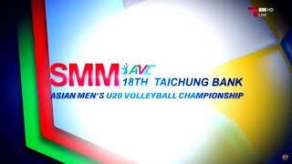 Thailand vs Turkmenistan  17 July 2016  5th Place  18th Asian Mens U20 Volleyball Championship