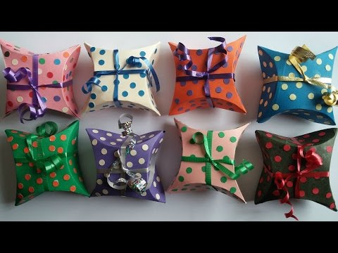 Jewelry gift boxes. How to make paper box
