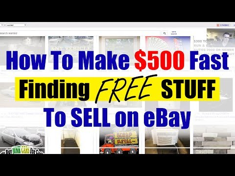 How To Make 500 Fast Finding Free Stuff To Sell On Ebay Youtube