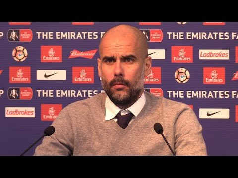 Manchester City 5-1 Huddersfield - Pep Guardiola Full Post Match Press Conference - FA Cup Replay