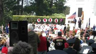 Memorial Day Ceremony 2009 San Francisco National Cemetery Presidio Lincoln High School Drum Corps