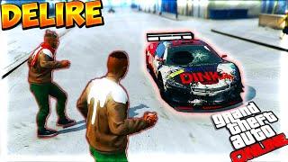 Découverte et Délire sur GTA 5 Online Sous la Neige ! Bataille de Boules de Neige !
