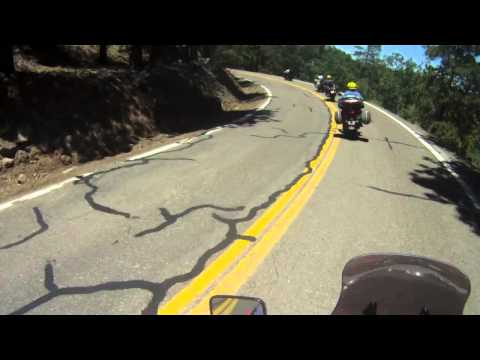 Motorcycle ride and motorcycle crash on devil's highway route 666 aka route 191