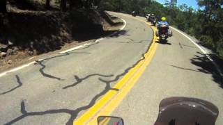 Motorcycle ride and motorcycle crash on devil