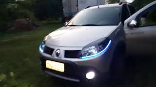 Meu Renault Sandero Stepway 2011 | LEDS no Farol