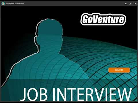 GoVenture Job Interview Simulation Tutorial Video, Job Interview Simulator
