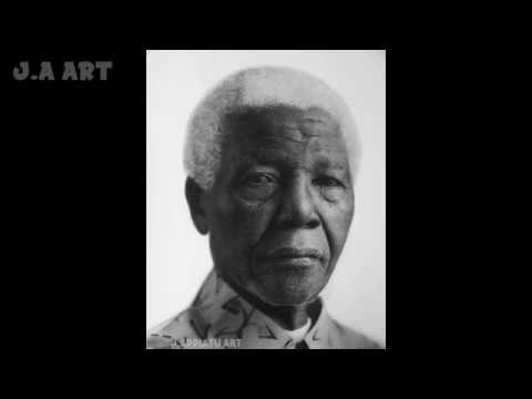 HYPER-REALISTIC DRAWING OF NELSON MANDELA