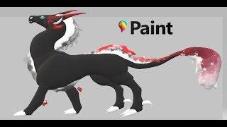 paint 3D. Пробую рисовать дракона ХЗ