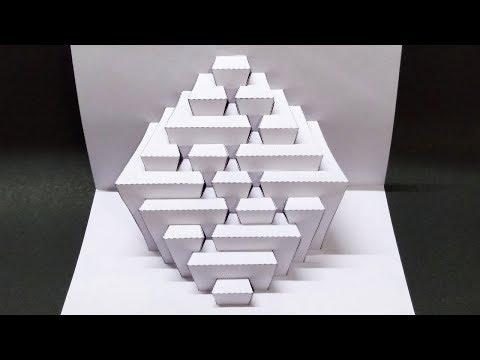 How To Make kirigami paper pop up card | kirigami paper art