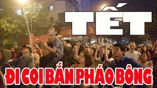Hàng ngàn người ngửa cổ lên trời coi bắn Pháo Hoa Happy New year 2019