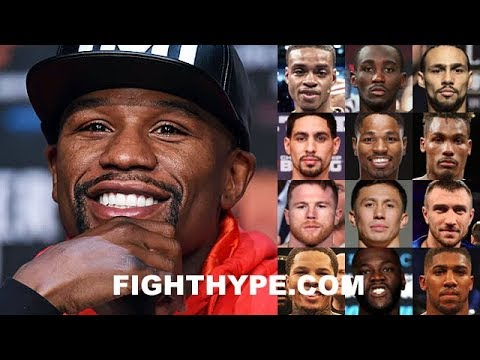 """MAYWEATHER REVEALS HIS """"MUST-SEE"""" LIST OF GOOD FIGHTERS IN BOXING TODAY; WHO MADE THE CUT?"""