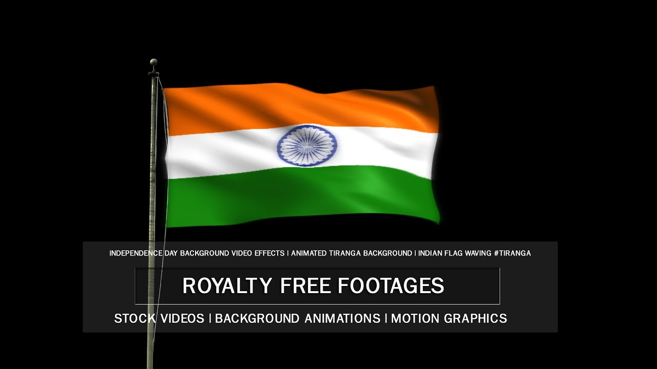 indian waving flag ultra hd alpha channel (transparent background