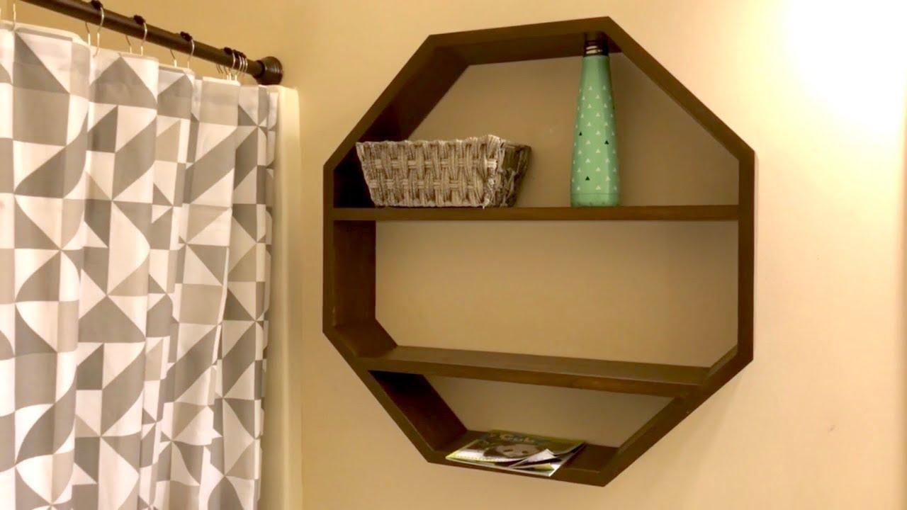 best website b56a0 3e975 Octagon Floating Shelf