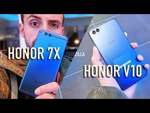 Unboxing e prime impressioni Honor 7X + V10