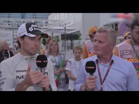 F1 2016. Baku(European) GP. Checo Perez's post-race interview part 21 (Online Sporting)