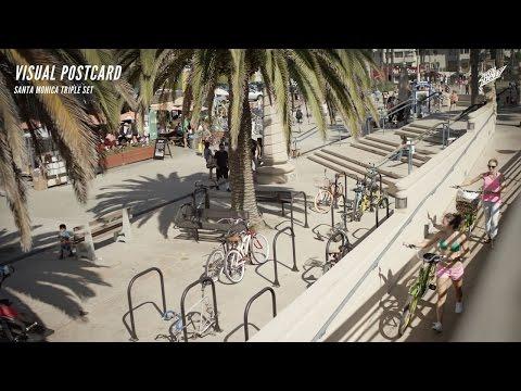 LOS ANGELES PINS - Visual Postcard - Santa Monica Triple Set