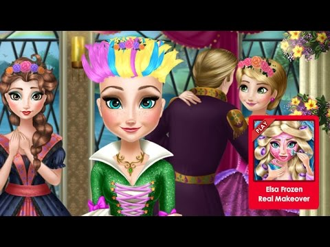 Анна Frozen Игры—Дисней Принцесса  Анна Хиппи прическа—Онлайн Видео Игры Для Детей Мультфильм 2015