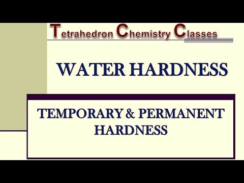 Part 1: Water Hardness