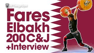 "Fares ""Meso Hassona"" Elbakh Heavy Clean & Jerk Session (200kg) + Quick Interview 2017 Junior Worlds"