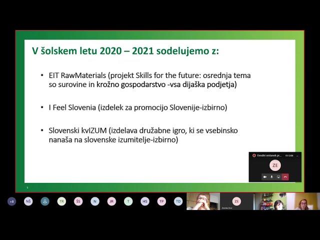 Uvodni sestanek programa Moje podjetje 2020