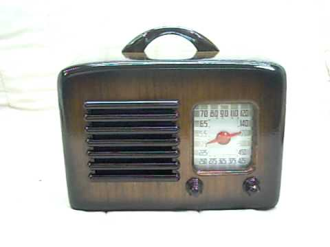 1941 General Television Old Antique Wood Tube Radio