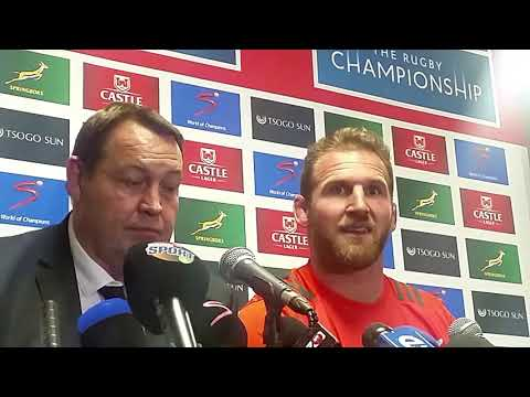 @allblacks captain Kieran Reid on the difference in the @Springboks between Albany and Cape Town
