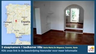 3 Slaapkamers 1 Badkamer Villa Te Koop In Santa Marta De Magasca, Caceres, Spain