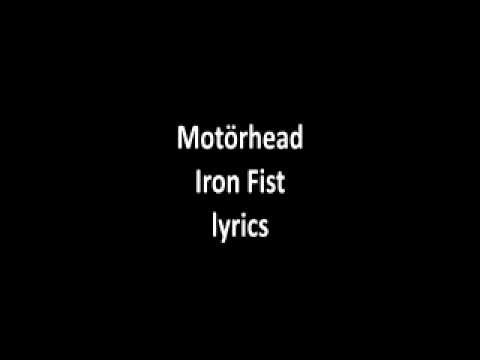 fist iron motorhead