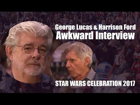 George Lucas & Harrison Ford Awkward Interview - Star Wars Celebration 2017 Orlando