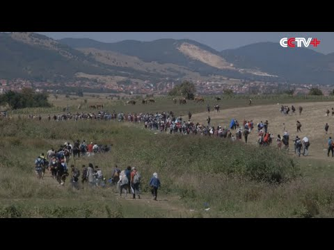 Thousands of Migrants Flow into Serbia from Macedonia