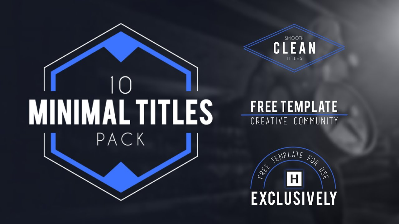 adobe after effects title templates free adobe after effects 10 minimalist titles free template