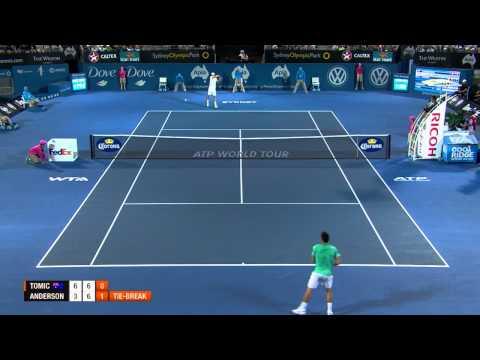Kevin Anderson v Bernard Tomic - Highlights Men's Singles Final : Apia International Sydney 2013