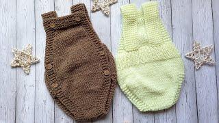 Ромпер спицами/ боди для новорожденных спицами