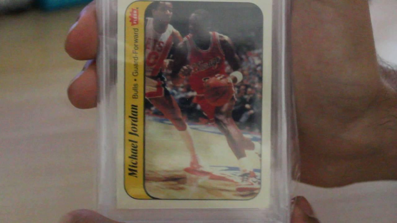 Michael Jordan Rookie Rc 1986 Sticker Fleer Card Psa Grade